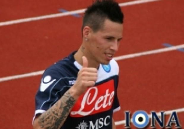 Contro la squadra di Di Carlo Hamsik festeggia le 200 partite in serie A