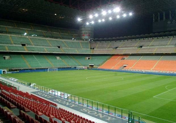 FOTO – Inter-Napoli, settore ospiti: spunta anche una bandiera del Genoa
