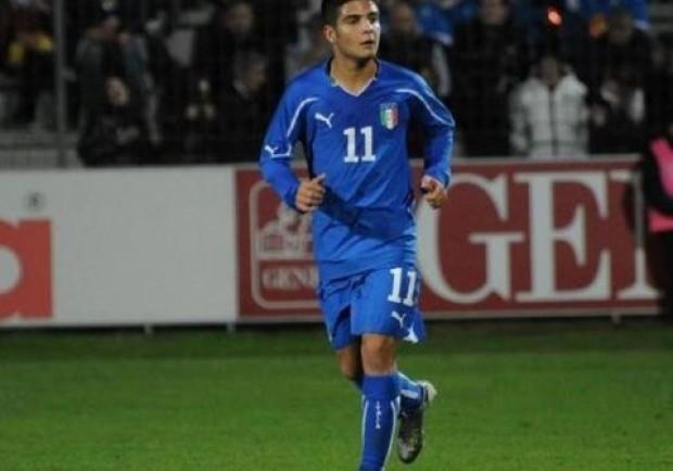 Lorenzo Insigne in gol nell' Italia Under 21 che vince a Frosinone 5-3