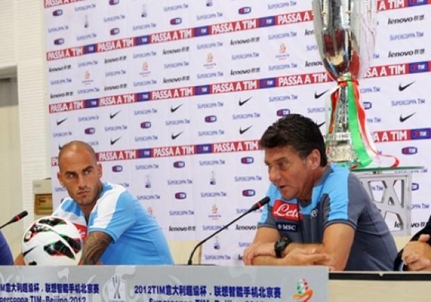 """Mazzarri: """"Sabato saranno importanti le motivazioni"""". Cannavaro: """"Vogliamo la Coppa"""""""
