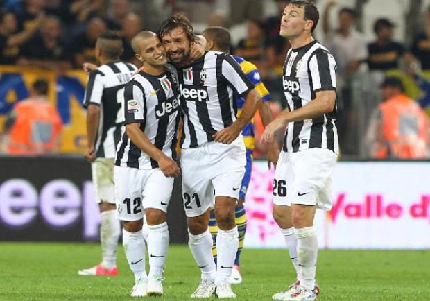 Anticipo Serie A: Juventus-Parma 2-0, il giudice di porta sancisce il gol di Pirlo