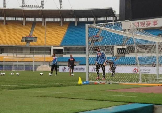 Partitella finita a Pechino, 4-2 per i blu: a segno anche Vargas e Cavani