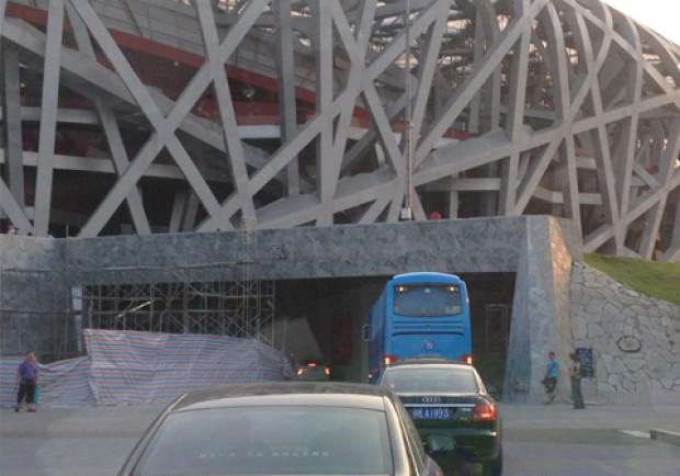 FOTO – Il Napoli è arrivato al Bird's Nest Stadium