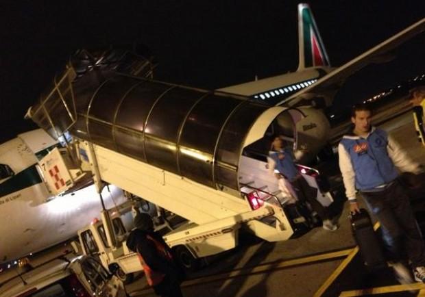 [FOTO] Gli azzurri sono atterrati a Bergamo