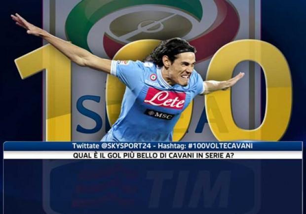 Sky, 100 gol in Serie A per Cavani: qual è il più bello? Scrivetelo su Twitter…