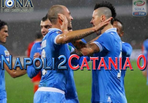 Napoli-Catania 2-0: per una notte in vetta. Le pagelle di IamNaples.it