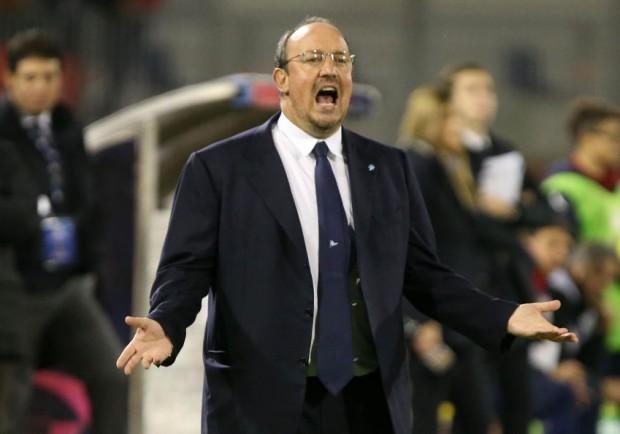 """Benitez: """"Sono deluso dalla prestazione di oggi. Abbiamo qualità in avanti anche senza Higuain"""""""