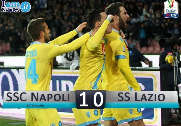 Napoli – Lazio, 80′ di tensione fino al lampo di Higuain: il film della partita