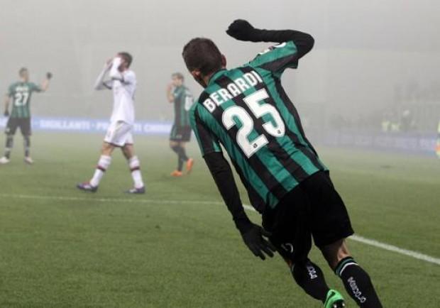 Hattrick Berardi, Sassuolo – Milan 3-2: per Inzaghi è notte fonda