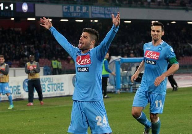 Due magie di Callejon e un gol di rapina per Insigne, Atalanta eliminata. Ai quarti arriva la Lazio di Reja
