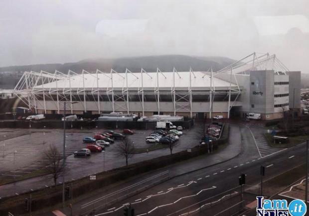 FOTO – Parte la nuova avventura del Napoli in Europa League: ecco il Liberty Stadium