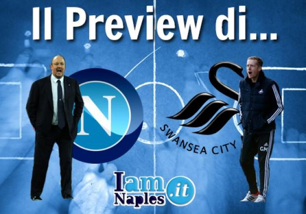 GRAFICO – Napoli-Swansea, le formazioni: Benitez ritrova Fernandez, Monk perde anche Shelvey