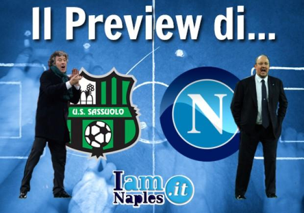 GRAFICO – Sassuolo-Napoli, le formazioni: tante assenze per Benitez e Malesani