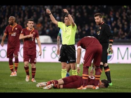 Tegola Roma, Strootman si opera al ginocchio sinistro