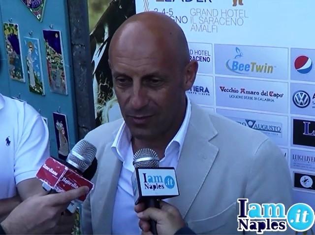 Ecco l'allenatore Mimmo Di Carlo mentre parla ai nostri microfoni