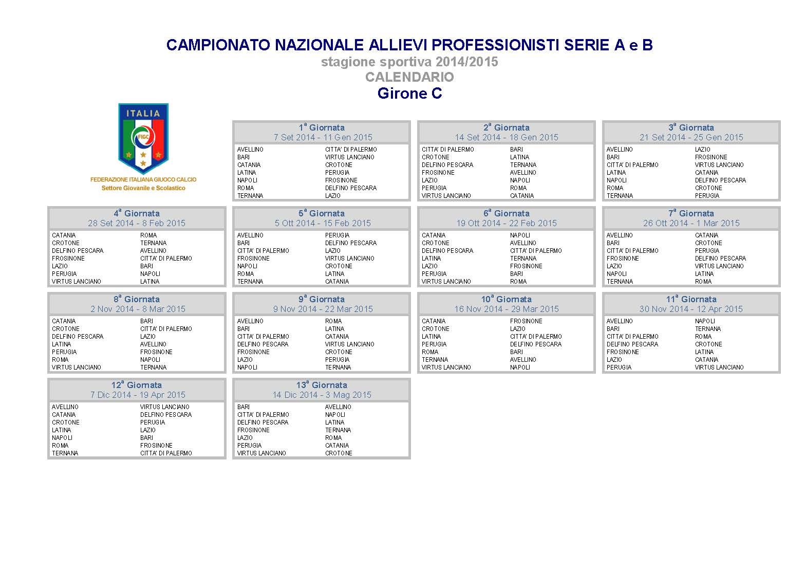 Calendario Allievi Nazionali.Ufficiale Allievi Nazionali Ecco Il Calendario Il Napoli