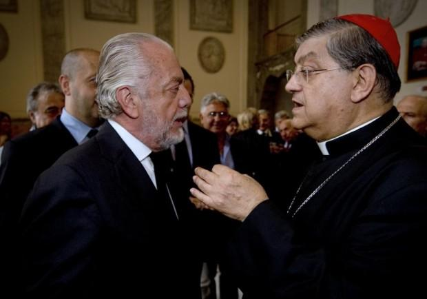 Sarri e De Laurentiis ospiti del cardinale Sepe: l'arcivescovo a Dimaro il 28 luglio