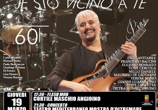 Je sto vicino a te: flash mob e concerto per i 60 anni di Pino Daniele