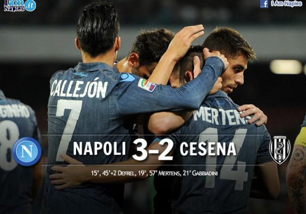 Napoli-Cesena 3-2, le pagelle: Mertens il migliore, ancora in gol Gabbiadini