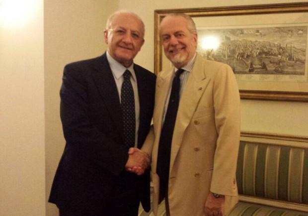 """De Luca incontra De Laurentiis: """"Piena condivisione per la realizzazione di progetti e investimenti"""""""