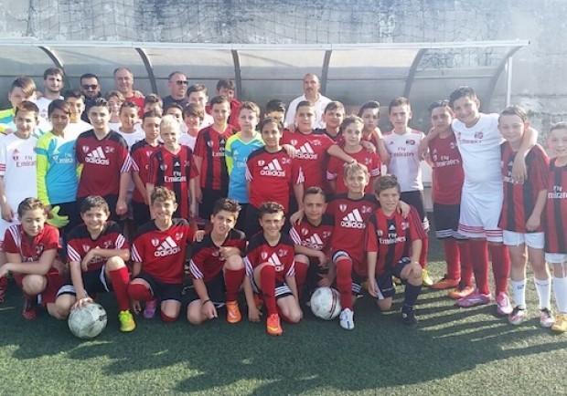 """FOTO – La Sampdoria fa scouting in Campania: stage alla scuola calcio """"Luigi Vitale"""""""