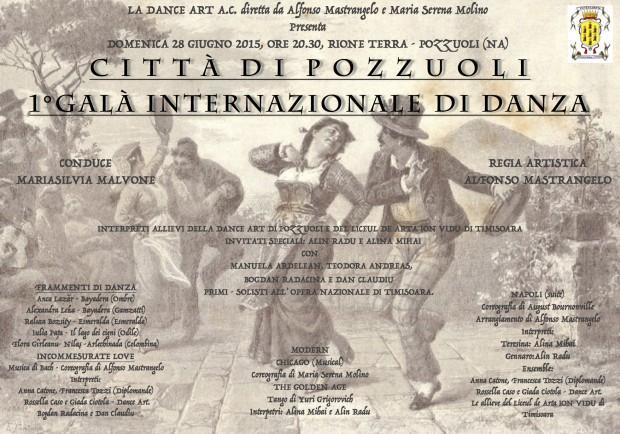 """Al via il """"Primo Galà Internazionale di Danza"""" di Pozzuoli"""