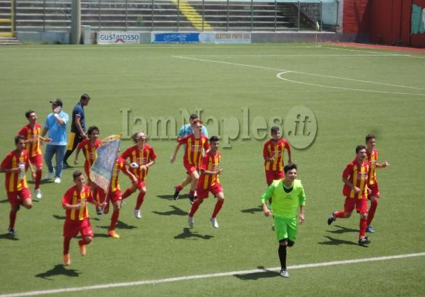 FOTO – Giovanissimi Fascia B: Capua campione regionale, superato il Materdei in finale per 1 a 0
