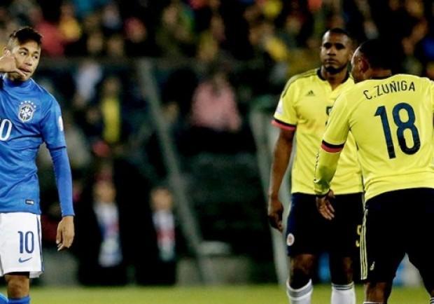 """Brasile-Colombia, Neymar a Zuniga: """"Poi chiami per chiedermi scusa, figlio di…"""""""