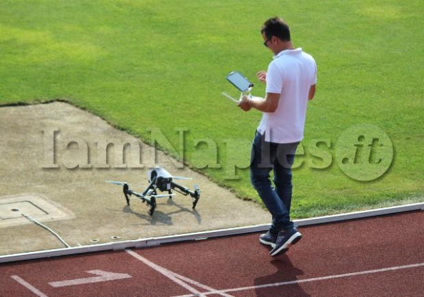 VIDEO – Il drone di Sarri riprende l'allenamento degli azzurri