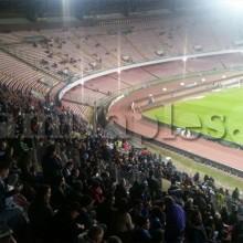 INCREDIBILE – Colpo d'occhio nei distinti al San Paolo a poco meno di quattro dal match