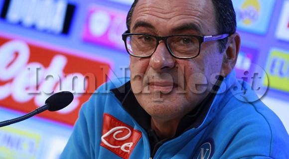 """Sarri in conferenza stampa: """"La fortuna è attratta da certi colori, non facciamoci condizionare da un episodio"""""""