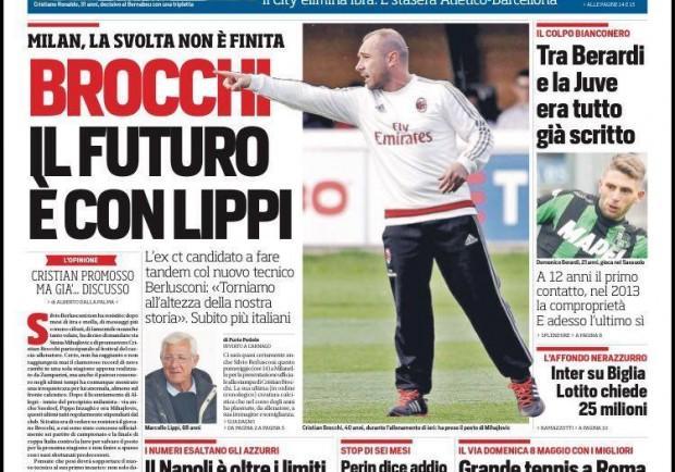 """FOTO – La prima pagina del Corriere dello Sport: """"Napoli da record, Sarri macina primati"""""""