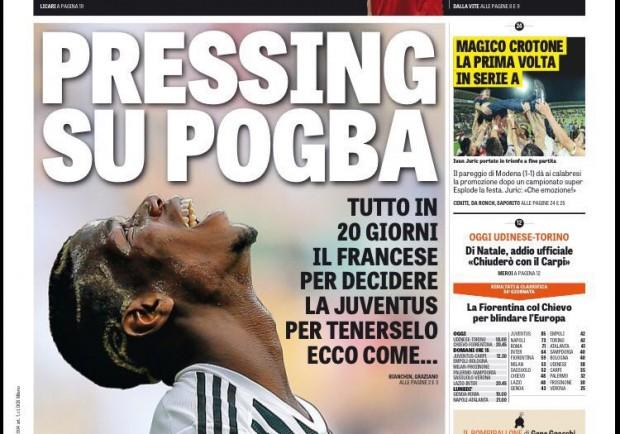 """FOTO – La Gazzetta in prima pagina: """"Sportiello vista Napoli"""""""