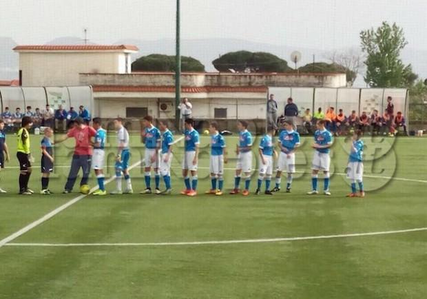Giovanissimi Regionali Fascia B, Real Brunita-Napoli 0-4: partita sbloccata con un calcio di rigore