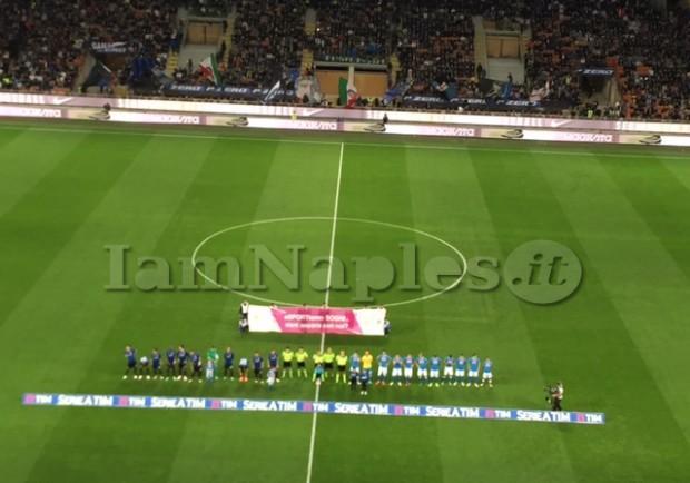 """Inter-Napoli, il commento della società azzurra: """"Gara condizionata dall'errore del guardalinee sul goal di Icardi"""""""