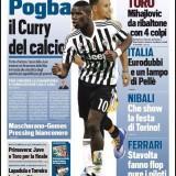 """FOTO – Tuttosport ed il paragone cestistico: """"Pogba è lo Stephen Curry del calcio"""""""