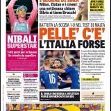 """FOTO – La prima de La Gazzetta dello Sport: Pellè c'è, ma Conte placa gli entusiasmi: """"Sarà dura"""""""