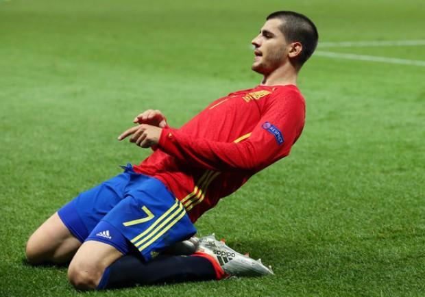"""Morata: """"Chiellini salterà Italia-Spagna? Le mie caviglie ringraziano"""""""