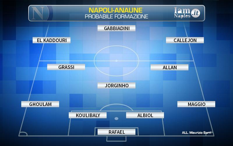 Prima amichevole positiva per il Napoli: Anaune battuto 10-0