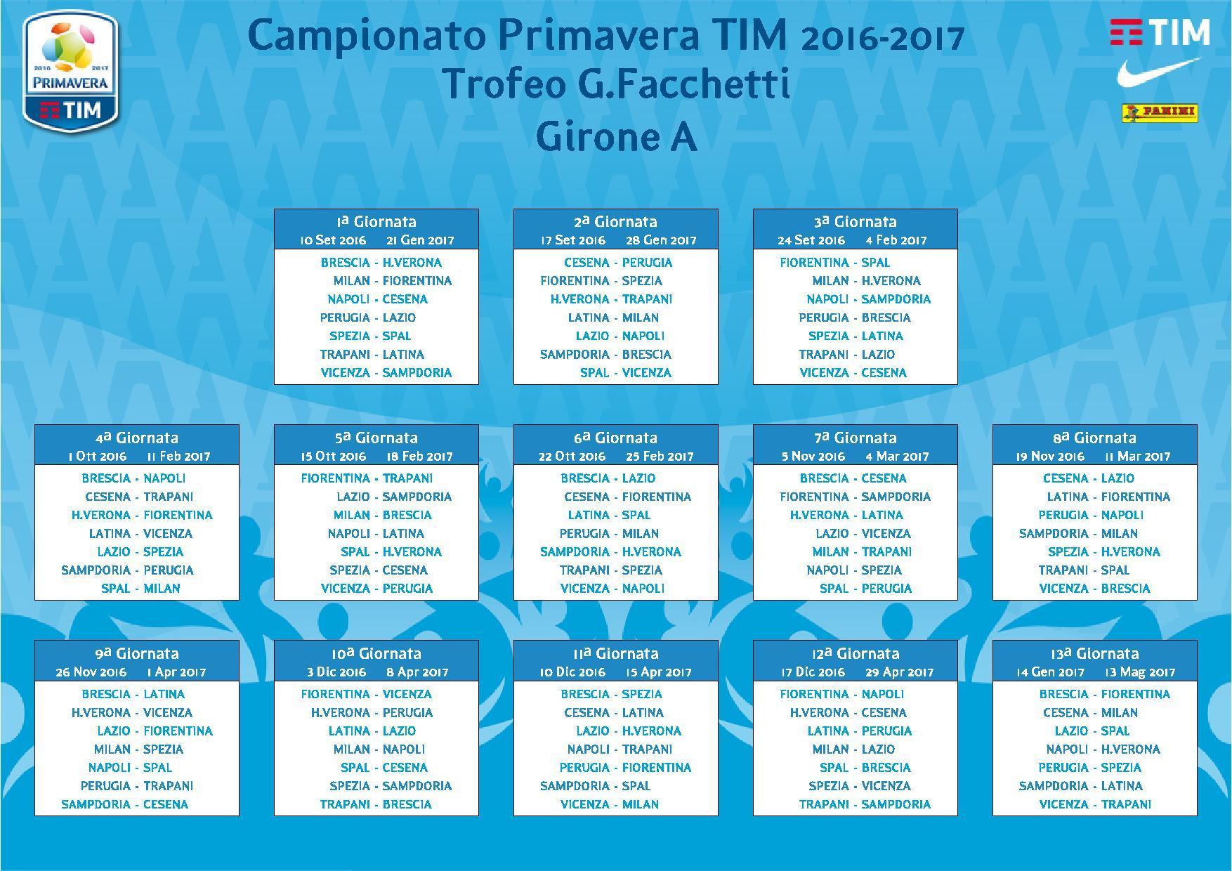 Lazio Primavera Calendario.Primavera Ecco Il Calendario Si Comincia In Casa Contro Il