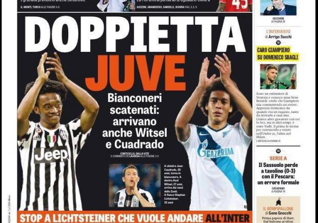 """FOTO – Gazzetta in prima pagina: """"Maksimovic al Napoli, il Torino aspetta Valdifiori"""""""