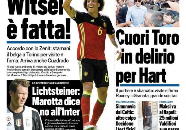 """FOTO – Tuttosport in prima pagina: """"Maksimovic, rinnovo di Gabbiadini e la suggestione Pavoletti?"""""""