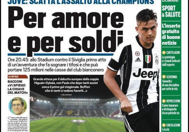"""FOTO – Tuttosport in prima pagina: """"Milik alla Pipita"""""""