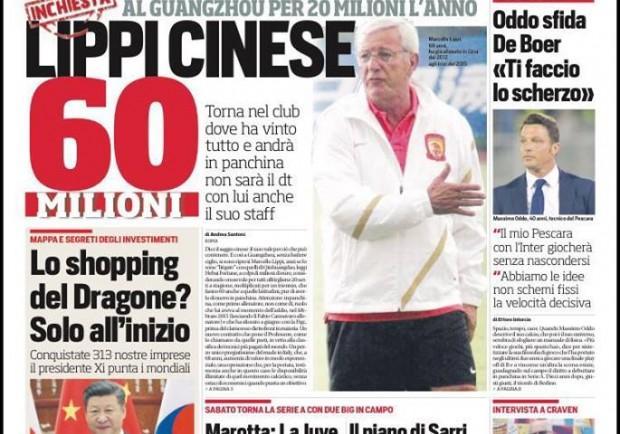 """FOTO – Corriere dello Sport: """"Napoli, parte il turnover di Sarri"""""""