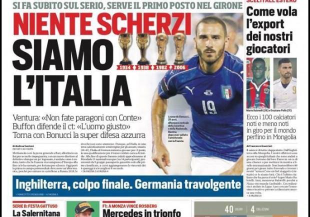 """FOTO – Corriere dello Sport: """"Milan, l'obiettivo azzurro Rodrigo Caio per la rinascita"""""""