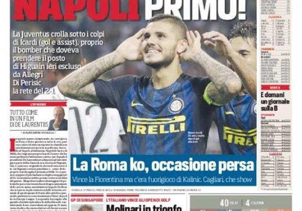 """FOTO – Corriere dello Sport: """"Napoli primo, tutto come in un film di De Laurentiis"""""""