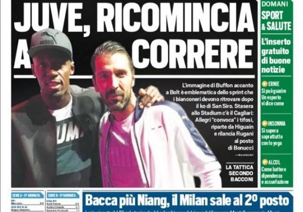 """FOTO – Tuttosport in prima pagina: """"Napoli, c'è Milik per restare al comando"""""""
