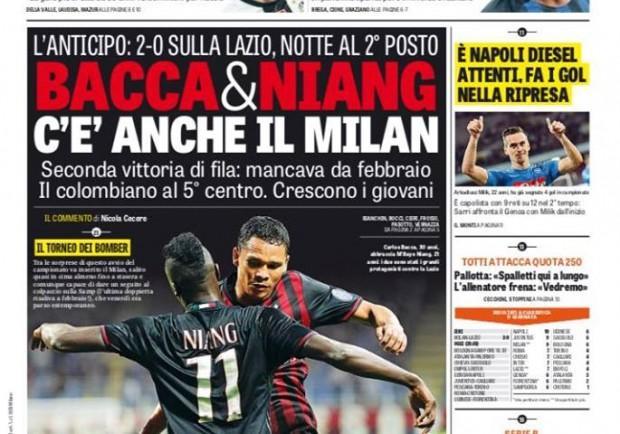 """FOTO – Gazzetta dello Sport in prima pagina: """"Napoli diesel, i gol arrivano nella ripresa"""""""