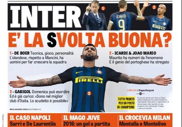 """FOTO – La Gazzetta in prima pagina: """"Caso Napoli"""""""