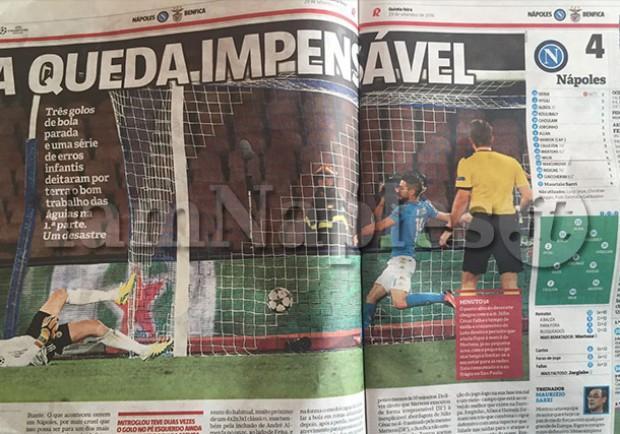 """FOTO – Dal Portogallo sul Benfica: """"Contro il Napoli caduta impensabile, non si possono commettere certi errori"""""""